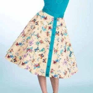 Tatyana Bettie Page butterfly skirt XL retro style